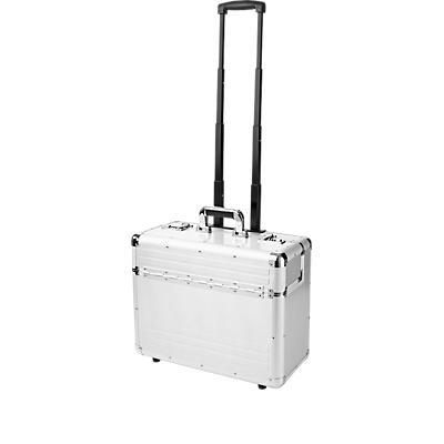 Alu-Pilotenkoffer, fahrbar, silber