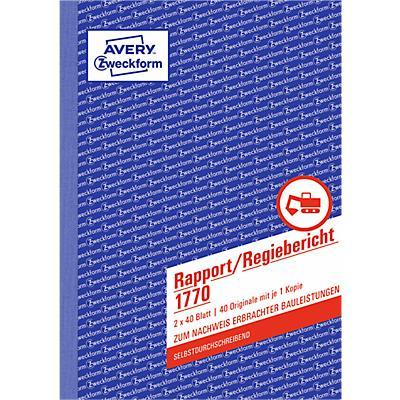 Rapport/Regiebericht Nr. 1770