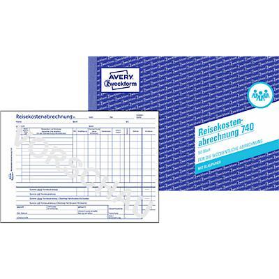 Reisekostenabrechnung Nr. 740