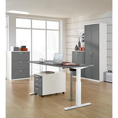 Einstufig elektrisch höhenverstellbare Tische