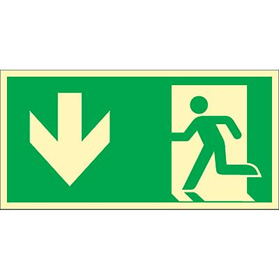 Schild ´´Rettungsweg durch Ausgang´´