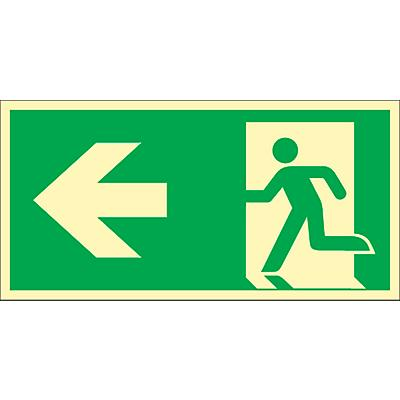 Schild Rettungsweg, HLF