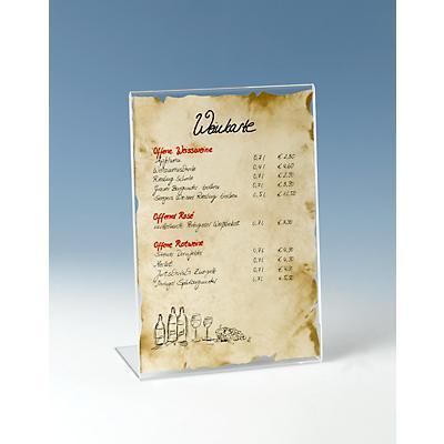 Tischaufsteller, Acryl, schräg, für DIN A4