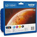 Brother voordeelpak 4 inktpatronen LC- 1100HYBK/ C/ M/ Y zwart, cyaan, magenta, geel