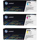 HP Color LaserJet CF440AM Druckkassetten, cyan+ magenta + gelb SET