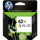 HP inktpatroon nr. 62XL, C2P07AE, tricolor