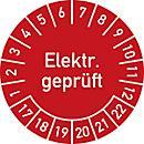 Keuringsvignetten, electr. gekeurd (2017- 2022), Duitstalig