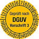 Keuringsvignetten, gekeurd vlg. DGUV voorschrift 3 (2017- 2022), Duitstalig