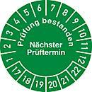Keuringsvignetten, goedgekeurd, volgende keuring (2017- 2022), Duitstalig