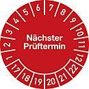 Keuringsvignetten, volgende keuring (2017- 2022), Duitstalig
