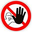 Panneau Accès interdit aux personnes non- autorisées