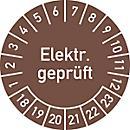 Prüfplakette, Elektr. geprüft (2018- 2023)