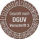 Prüfplakette, Geprüft nach DGUV Vorschrift 3 (2018- 2027)