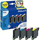 Sparpaket 4 Stück Pelikan Tintenpatronen baugleich mit TO44 540, schwarz/ cyan/ magenta/ gelb