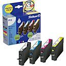Sparset 4 St. Pelikan Tintenpatronen, baugleich TO71 540, schwarz/ cyan/ magenta/ gelb Pigmenttinte HC