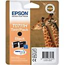 Voordeelpak 2 Epson inktpatronen T07114011 zwart