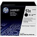 Voordeelpak 2 x HP LaserJet Q7551X printcassette zwart