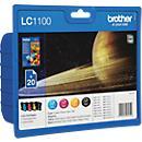 Voordeelpak: brother 4 inktpatronen LC- 1100BK/ C/ M/ Y, zwart, cyaan, magenta, geel