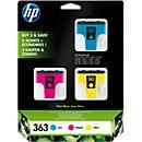 Voordeelpakket met 3 HP- cartridges, nr. 363 cyaan, magenta, geel (CB333EE)