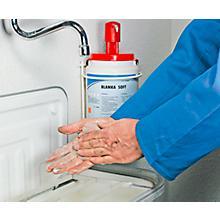 Complete aanbieding PUDOL Blanka soft: Handreiniger + wandhouder + dispenser