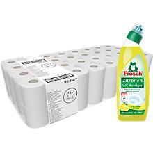 Offre spéciale : Kimberly- Clark® papier toilette KIMBI 350 + Frosch nettoyant WC citron, GRATUIT