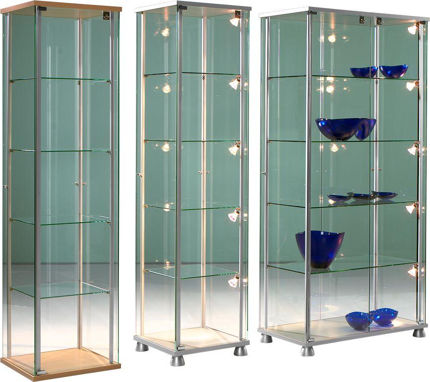 stand pr sentationsvitrine forum v b 830 x t 430 x h 1760 mm g nstig kaufen sch fer shop. Black Bedroom Furniture Sets. Home Design Ideas