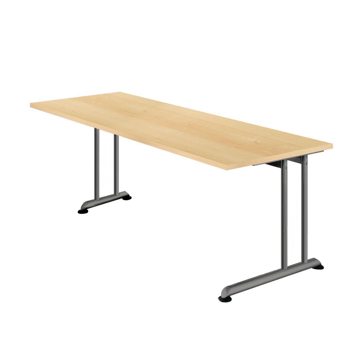 Schreibtisch almondo c fu rechteck 1 langer kurzer c for Langer schreibtisch