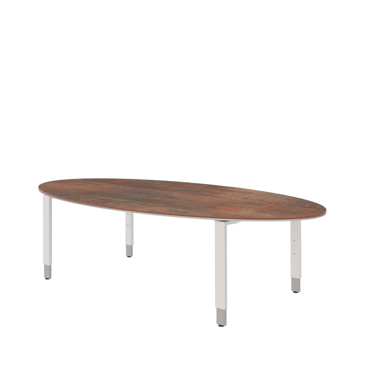 schreibtisch teqstyle 4 fu oval b 2200 x t 1100 x h. Black Bedroom Furniture Sets. Home Design Ideas