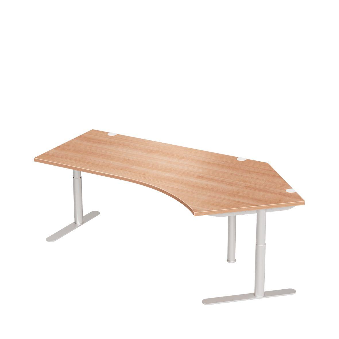 Schreibtisch trentec 135 grad rechteckrohr ansatz for Schreibtisch 45 grad