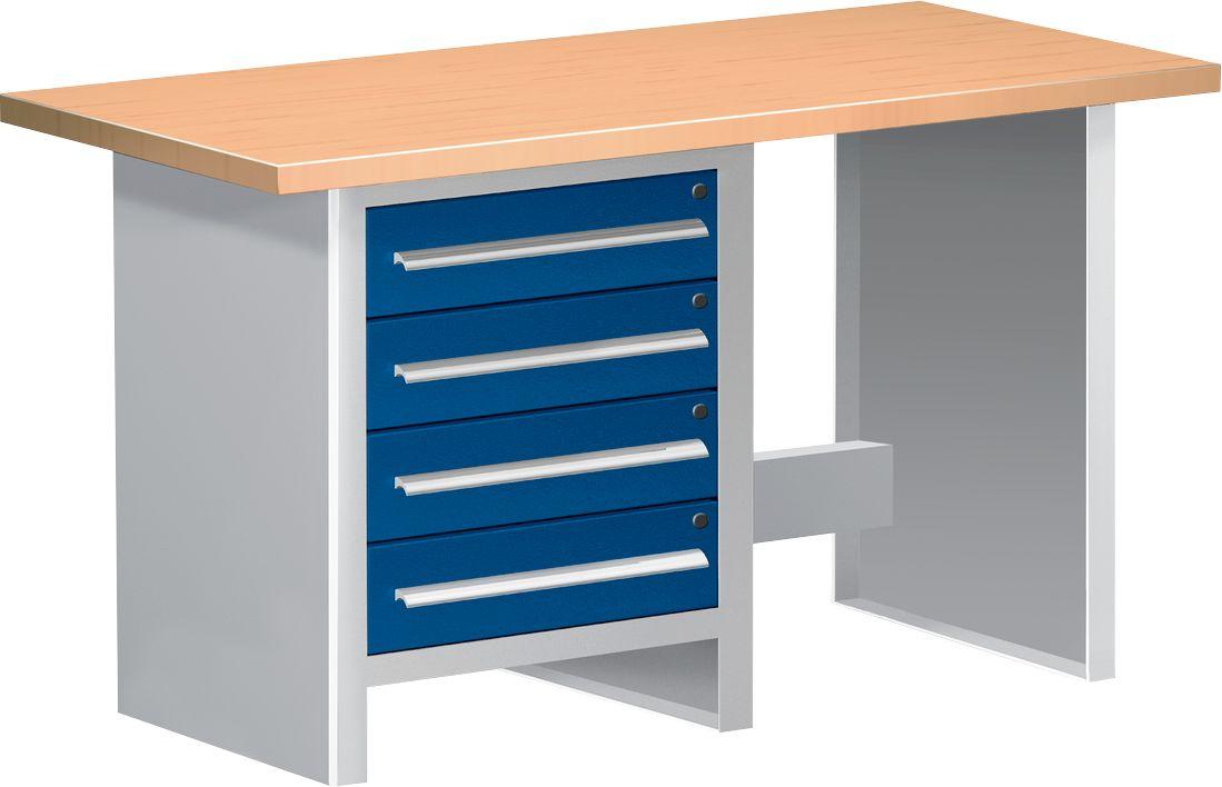 werkbank wbi 150 1 4 schubladen 1 offener bereich. Black Bedroom Furniture Sets. Home Design Ideas