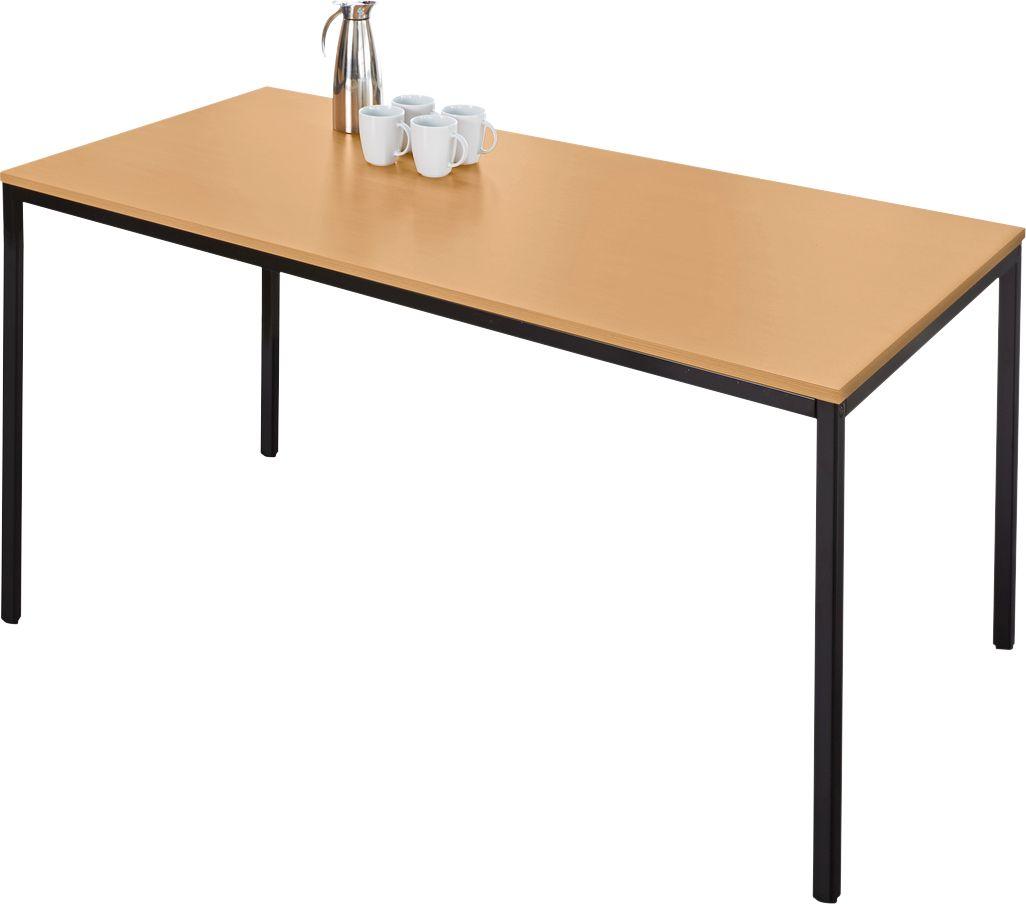 stahlrohr tisch 1600 x 700 mm g nstig kaufen sch fer shop. Black Bedroom Furniture Sets. Home Design Ideas