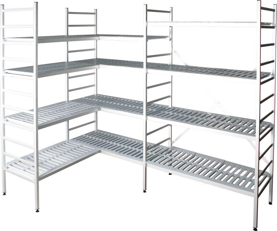 aluminium steckregal anbaufeld mit 4 kunststoff rost fachb den h 1800 x b 1500 mm g nstig. Black Bedroom Furniture Sets. Home Design Ideas