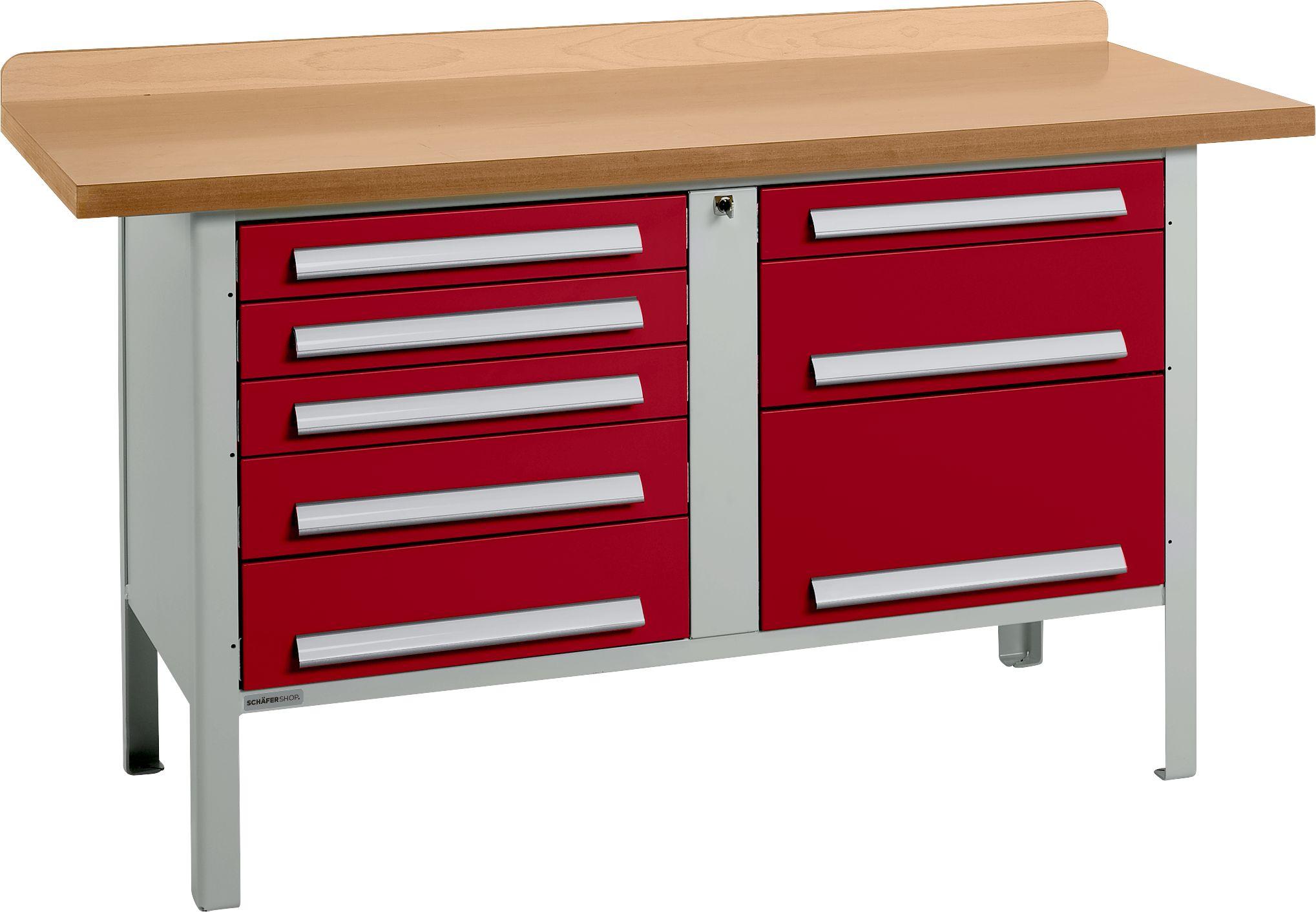 universelle profi werkbank pw 150 8 g nstig kaufen sch fer shop. Black Bedroom Furniture Sets. Home Design Ideas