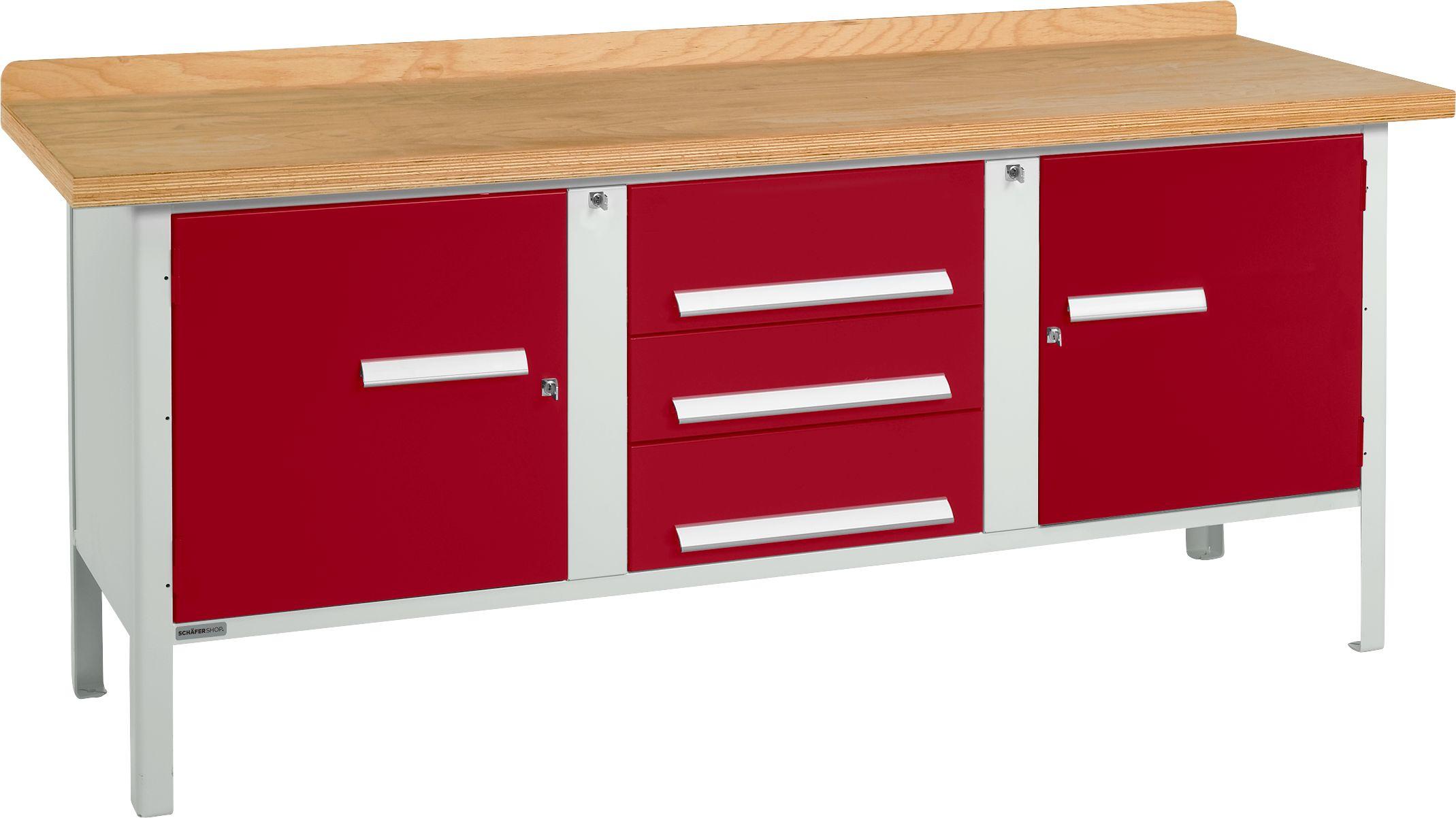 universelle profi werkbank pw 200 4 g nstig kaufen sch fer shop. Black Bedroom Furniture Sets. Home Design Ideas
