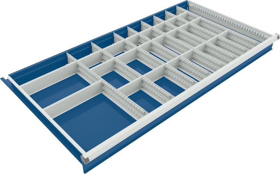 trennwand mit 8 l ngs und 22 querteiler f r schubladenschrank 1130 mm breit g nstig kaufen. Black Bedroom Furniture Sets. Home Design Ideas