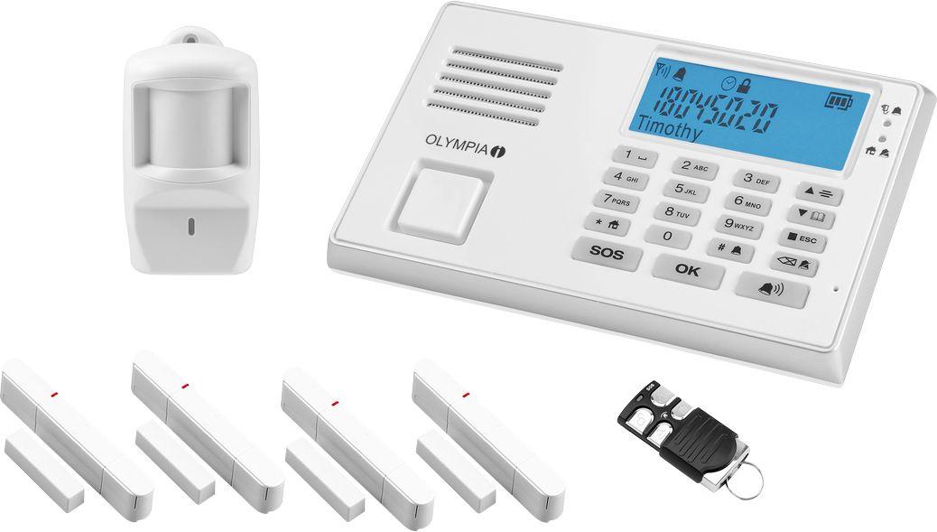 olympia gsm alarmanlage set protect 9066 gsm mit notruf. Black Bedroom Furniture Sets. Home Design Ideas