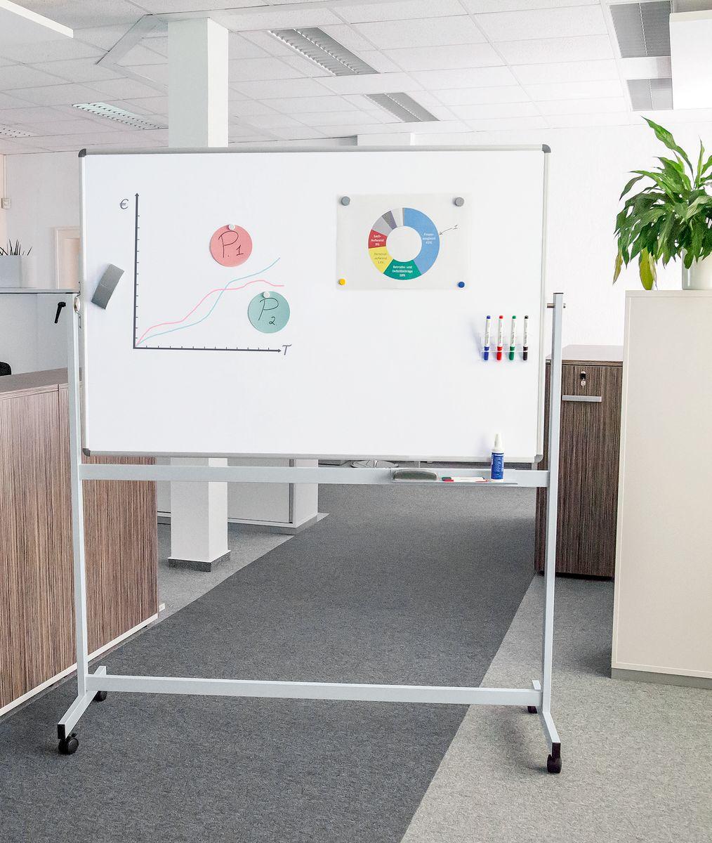 mobiles whiteboard maulstandard drehbar g nstig kaufen sch fer shop. Black Bedroom Furniture Sets. Home Design Ideas