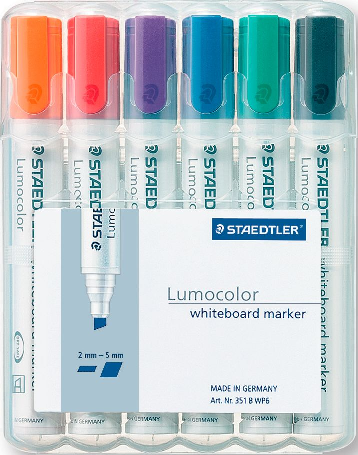 staedtler whiteboardmarker lumocolor 6er set g nstig. Black Bedroom Furniture Sets. Home Design Ideas