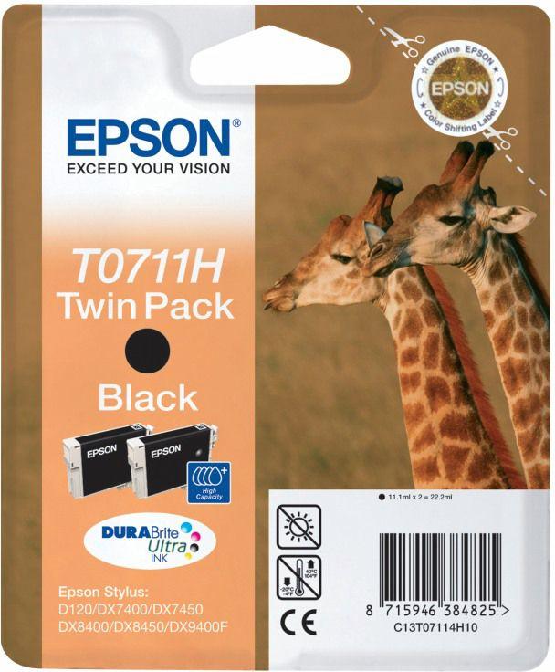 sparpaket 2 st ck epson tintenpatronen t07114011 schwarz. Black Bedroom Furniture Sets. Home Design Ideas