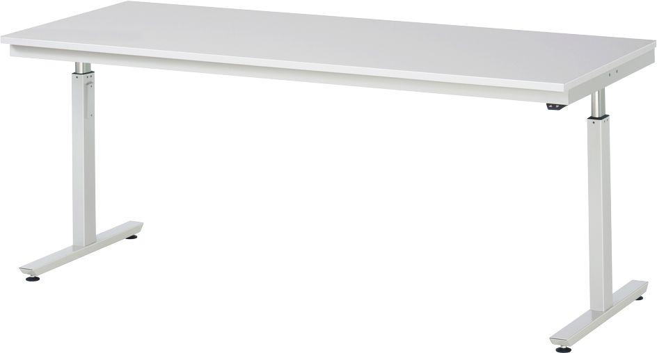 arbeitstisch serie adlatus 300 melamin platte elektrisch h henverstellbar tiefe 800 oder 1000. Black Bedroom Furniture Sets. Home Design Ideas