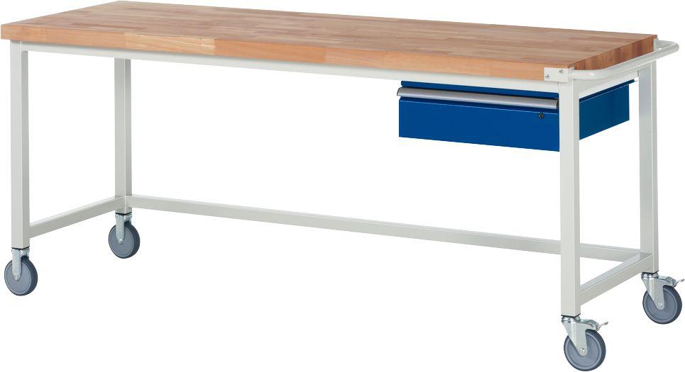 werkbank serie 8000 fahrbar mit h ngeschublade breite 750 bis 2000 mm g nstig kaufen. Black Bedroom Furniture Sets. Home Design Ideas