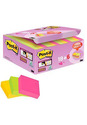 Post-it® Haftnotizen Super Sticky Notes, 24 Blöcke, 48 x 48 mm