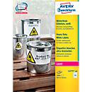 Avery Zweckform weerbestendige folie- etiketten L4773- 100, 63,5 x 33,9 mm, permanent, wit
