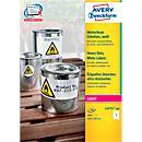 Avery Zweckform weerbestendige folie- etiketten L4775- 100, 210 x 297 mm, permanent, wit