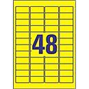 Avery Zweckform Wetterfeste Folien- Etiketten L6103- 20, 45,7 x 21,2 mm, permanent, gelb