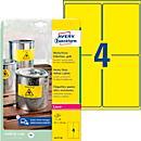 Avery Zweckform Wetterfeste Folien- Etiketten L6127- 20, 99,1 x 139 mm, permanent, gelb
