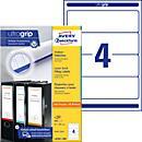 AVERY® Zweckform Ordner- Etiketten, ultragrip, weiß, 100 Bögen/ Paket