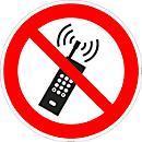 """Aviso """"Proibido uso de telemóvel"""""""