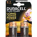 DURACELL Plus Batterie, Baby C 1,5 V, 2 Stück