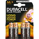 DURACELL® batterijen Plus Power, Mignon AA en Micro AAA, 1,5 V